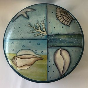 Decorative Beach Theme Covered Storage Dish